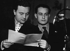 Jan Werich and Jiří Voskovec, photo: archive of Czech Radio