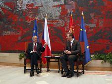 Miloš Zeman, Aleksandar Vučić, photo: ČTK/AP/Darko Vojinovic