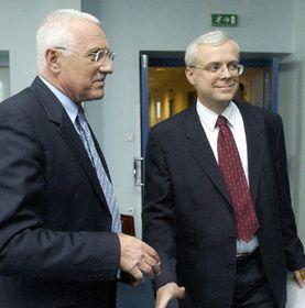 Václav Klaus y Vladimir Spidla, Foto: CTK