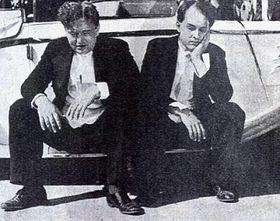 Jan Werich and Jiri Voskovec