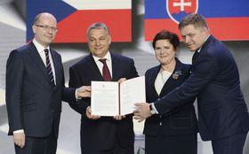 Bohuslav Sobotka, Viktor Orbán, Beata Szydło und Robert Fico (Foto: ČTK)