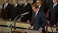 Václav Havel, 29 de diciembre de 1989, foto: ČT