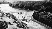 Barrage d'Orlík à la fin des années 1950, photo: Archives de ČT