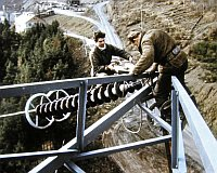 Construction du barrage, photo: Archives de ČT