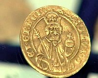 Münze mit dem Brustportrait des gekrönten Karls IV. (Foto: ČT24)