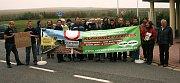 Thayatalbahn Protestveranstaltung am Grenzübergang Fratres/Slavonice am 17.10.2009 (Foto: www.thayatalbahn.at)