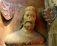 Jan Lucemburský, busta zkatedrály sv. Víta, foto: volné dílo