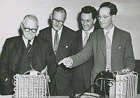 Harry Pollak ve výrobní lince Westair dehumidifiers, foto: archiv Harryho Pollaka