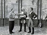 Shooting of 'Baron Munchausen', photo: Karel Zeman Museum