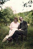 Эдвард Бенеш с супругой Ганой в 1921 г. (Фото: Йозеф Йиндржих Шехтл, Wikimedia Commons, License CC BY-SA 3.0)