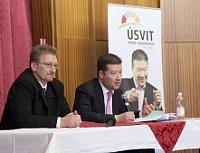 Deputies Marek Černoch and Tomio Okamura, photo: Archive of the Úsvit přímé demokracie