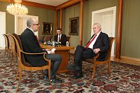 Кирилл Щелков и президент ЧР Милош Земан во время интервью (Фото: архив Канцелярии президента Чешской Республики)