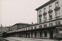 Здание вокзала Прага-Тешнов в 1970 г. (Фото: архив Музея Праги)