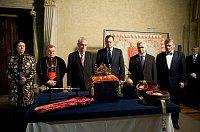 Les joyaux de la couronne et les sept détenteurs des clés d'accès en 2013, photo: Filip Jandourek, ČRo