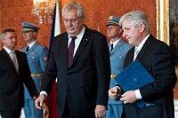 Miloš Zeman et Jiří Rusnok, photo: Filip Jandourek, ČRo