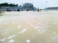 Speedway-Stadion ein paar Tage vor dem Spiel (Foto: HC Eaton Pardubice)