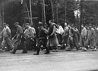 'La marche de la mort', photo: United States Holocaust Memorial Museum