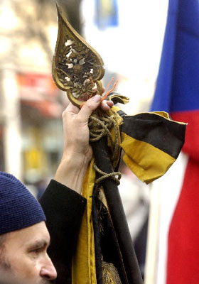 Akce na podporu návratu monarchie, Foto: ČTK