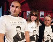 Lou Fananek Hagen, Ales Brichta and Petr Peceny, photo: CTK