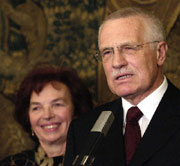 Vaclav Klaus and his wife Livie, photo: CTK