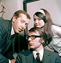 De izquierda Jiri Groassmann, Miloslav Simek, Miluska Vobornikova, 1970, foto: CTK