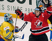Sweden - Canada, photo: CTK