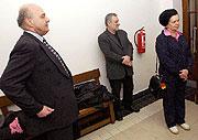 Ivo Svoboda aBarbora Snopková čekají na zahájení odvolacího jednání pražského vrchního soudu (Foto: ČTK)