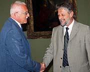 Vaclav Klaus (à gauche) et Frantisek Bublan, photo: CTK
