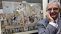 Jiri Suchy avec la présentation du rideau, photo: CTK