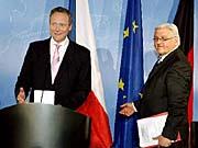 Außenminister Cyril Svoboda und Frank-Walter Steinmeier (Foto: CTK)