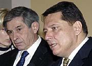 President of the World Bank Paul Wolfowitz and the Prime Minister Jiri Paroubek, photo: CTK