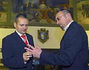 Pavel Sýkora (a la izqierda) y Miloslav Sejkora, Kladno (Foto: CTK)