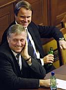 Mirek Topolanek and Martin Bursik, photo: CTK