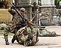 Ukázka posledních bojů na Náchodsku, foto: ČTK