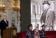 Präsident Vaclav Klaus würdigt das Vermächtnis Masaryks (Foto: CTK)