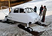 The new replica of the Tatra V 855 aero sledge, photo: CTK