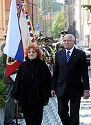 Präsident Václav Klaus mit Ministerin Vlasta Parkanová (Foto: ČTK)