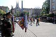 Gedenkveranstaltung vor der Prager Emmaus-Kirche (Foto: ČTK)