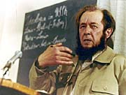 Alexander Soljenitsyne à Zürich en 1974, photo: CTK
