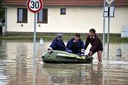 Hochwasser in Troubky (Foto: ČTK)