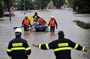 Hochwasser an der Bečva in Troubky (Foto: ČTK)