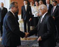 Miroslav Kalousek und Václav Klaus (Foto: ČTK)
