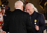 Václav Klaus and Milan Knížák, photo: CTK