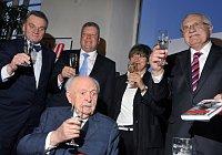 Otakar Vávra, Prague Mayor Bohuslav Svoboda, Jiří Besser, Vávra's wife Jitka Němcová, Václav Klaus, photo: CTK