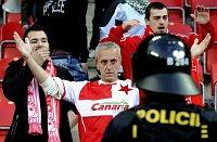 Protestaktion der Slavia-Fans (Foto: ČTK)