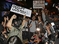 Wall Street protesters in Los Angeles, photo: CTK