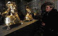 Серебряный реликварий - бюст св. Вацлава (Фото: ЧТК)