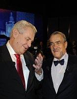 Miloš Zeman, Karel Schwarzenberg, photo: CTK