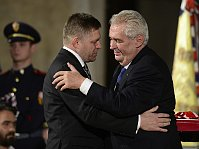 Robert Fico and Miloš Zeman, photo: ČTK