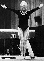 Věra Čáslavská at the Mexico Olympics 1968, photo: CTK